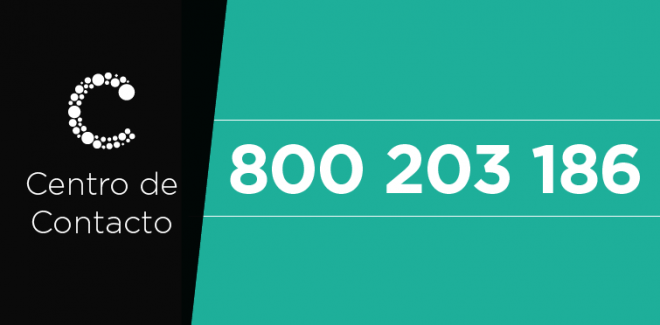 Fixe este número: 800 203 186 ...