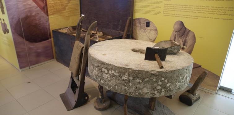 Pormenor da exposição Moinho de Armação - Tipo Americano, Alcabideche