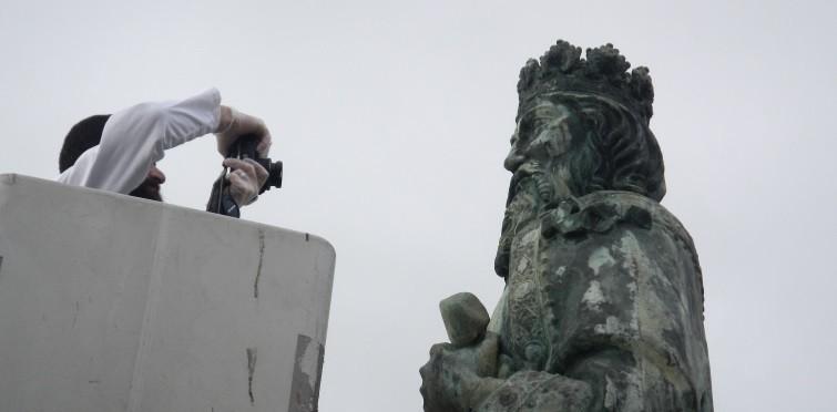 Levantamento do estado de conservação da estátua de bronze, do monumento a D. Pedro I