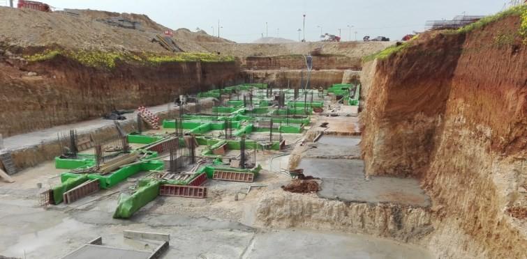 Impermeabilização de fundações no Corpo W3 (Mar.2017)