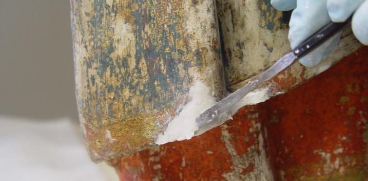 Reconstituição volumétrica de lacuna na imagem de São Pedro, de pedra policromada