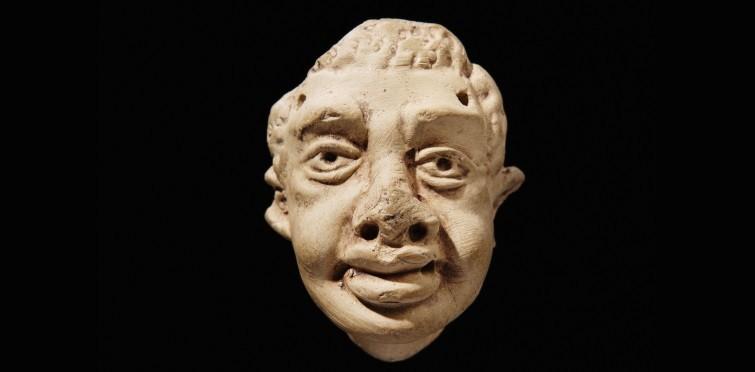Máscara de terracota romana | Villa romana do Alto do Cidreira