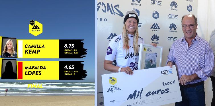 Camilla Kemp,vencedora do Cascais Huawei Pro, etapa final da Liga Moche 2016