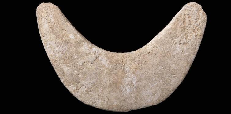 Lúnula de calcário | Gruta II de Alapraia