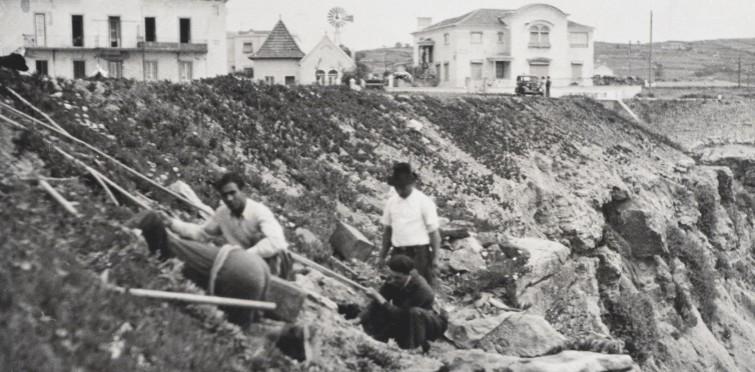 Pormenor dos trabalhos de escavação nas Grutas de S. Pedro do Estoril
