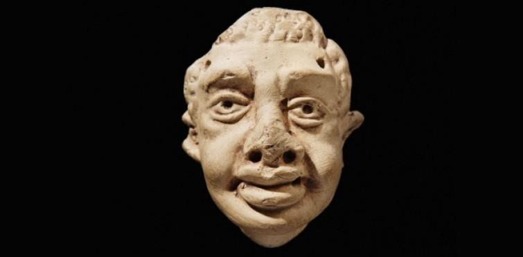 Máscara romana em terracota da villa romana do Alto do Cidreira - Nº inv. CID.459