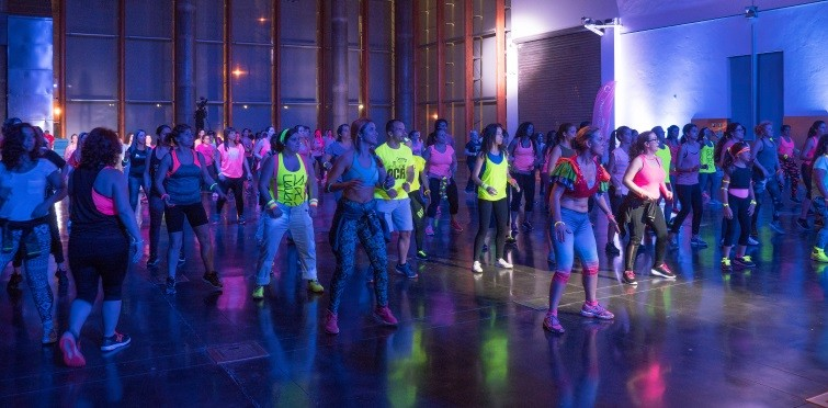 Aula de zumba no Centro de Congressos do Estoril