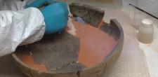 Reconstituição de lacunas de taça cerâmica campaniforme | Grutas de Alapraia
