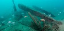 Estrutura de metal de navio afundado, época contemporânea | Carcavelos