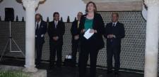 Embaixadora da irlandesa, Orla Tunney durante a cerimónia