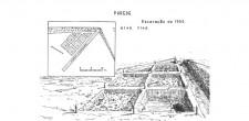 Planta das escavações de 1956 (representação da utilização do sistema de escavação em quadrícula)
