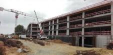 Estrutura do edifício das residências para estudantes (Dez.2016)